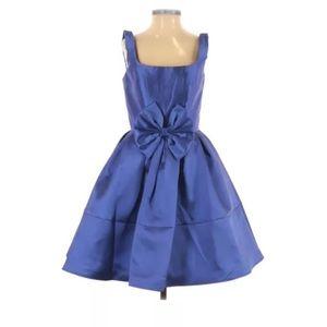 Mac Duggal Blue Bow Cocktail Interview Dress